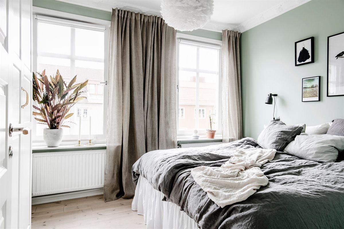 Slaapkamer met een mooie kleurencombinatie  Slaapkamer ideen