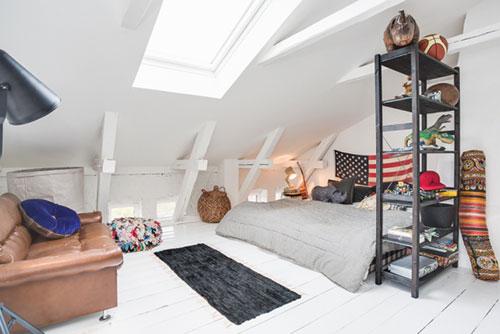 Vintage slaapkamer op zolder  Slaapkamer ideen