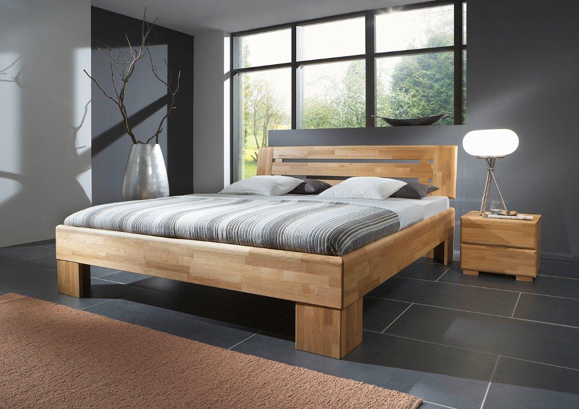 Eenpersoons houten bed Teun  Slaapkamerweb