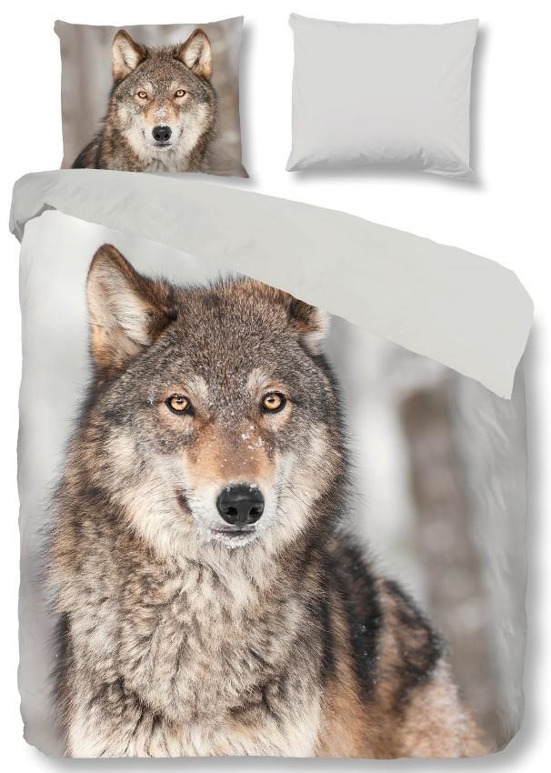 Goodmorning Dekbedovertrek Wolf Flanel  Slaaptextielnl