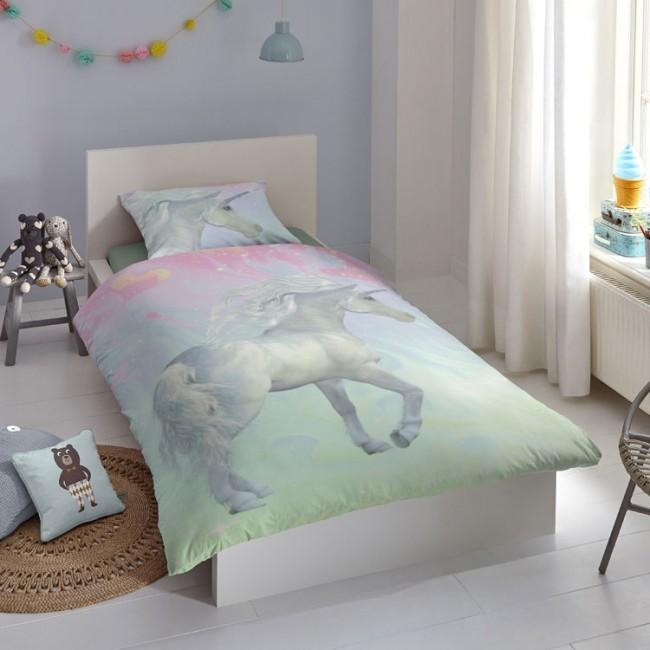 Goodmorning Dekbedovertrek Unicorn  Slaaptextielnl