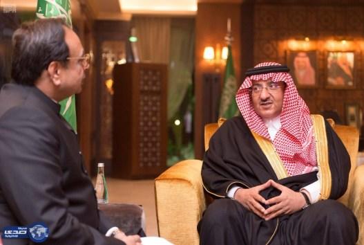 ولي العهد يستقبل المدعي العام بجمهورية باكستان الإسلامية
