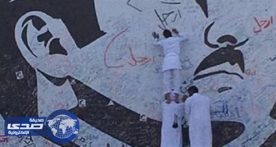 20bebe8f1 جرافيتي ارحل لتميم يغزو شوارع الدوحة - صحيفة صدى الالكترونية