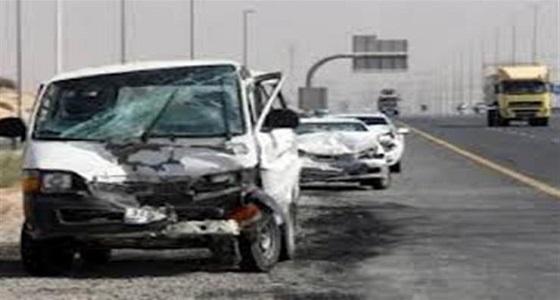 إصابة 9 في حادث تصادم سيارتين على طريق الحرمين بجدة