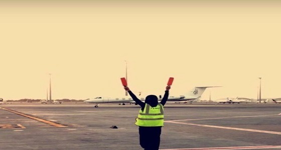 """حقيقة الصورة المتداولة لفتاة سعودية تقوم بوظيفة """" المارشلر """""""
