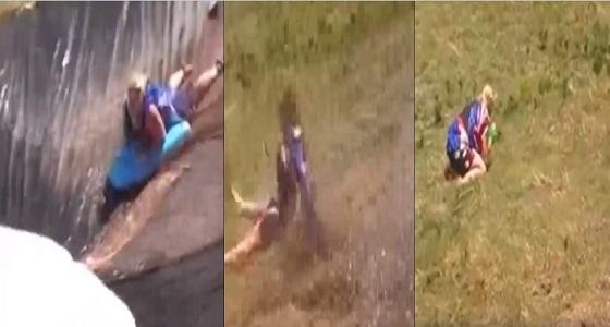 بالفيديو.. سقوط مروع لفتاة أثناء استعراض مهارتها في التزحلق