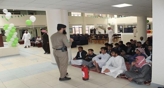 بالصور.. برنامج للسلامة المدرسية بثانوية الأمير سلطان