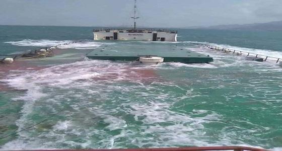 """غرق """" سام اليمن """" قبالة سواحل البريقة بعدن"""