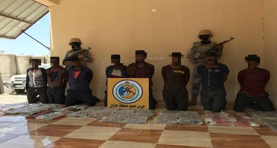 """حرس الحدود: القبض على 27 مهربًا لمادة الحشيش المخدر في """" جازان ونجران """""""