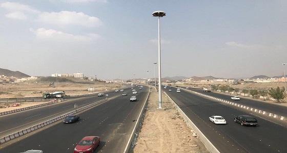توقف الحركة المرورية بالدائري الثالث في العاصمة المقدسة