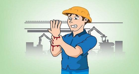 9668 إصابة عمل في جميع مناطق المملكة خلال الربع الأول من 2018