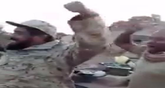 بالفيديو.. جنود الحد الجنوبي يطلقون صيحات وتكبيرات الإنتصار