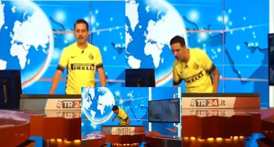 بالفيديو.. ردة فعل صادمة لمقدم تلفزيوني إيطالي بعد انتقال رونالدو لليوفي