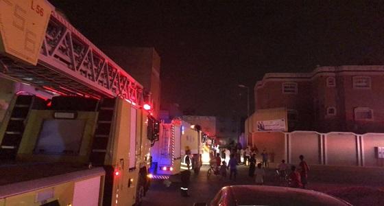 بالصور.. وفاة مواطن اثناء إندلاع حريق بشقة بالأحساء