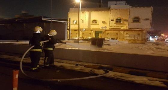 بالصور.. السيطرة على حريق في محطة وقود بالمدينة المنورة