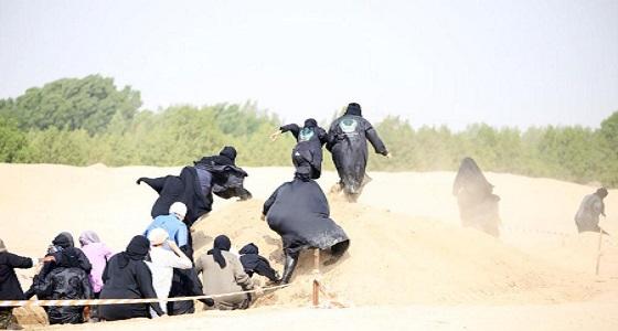 بالصور.. لأول مرة في العالم العربي سعوديات ينفذن فرضية إنقاذ في البر والبحر