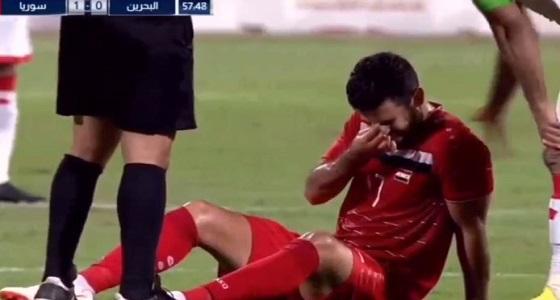 إصابة عمر خربين في ودية سوريا والبحرين