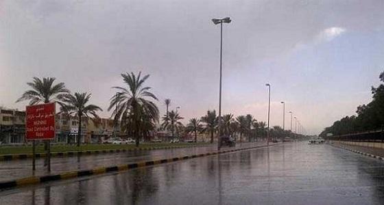 هطول أمطار متوسطة على محايل
