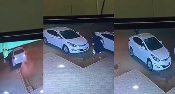 بالفيديو.. دهس مالك سيارة بعد محاولته منع لص من سرقتها بالرياض