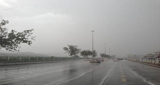 تحذير من استمرار هطول الأمطار وأتربة على 4 مناطق
