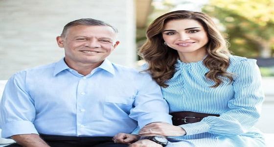 الملكة رانيا تحتفل بعيد زواجها برفقة الملك عبدالله