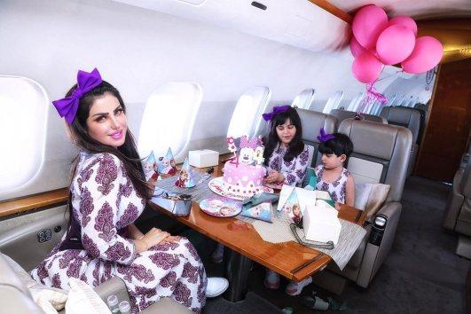 """حليمة بولند تحتفل بعيد ميلاد ابنتها """" كاميليا """""""