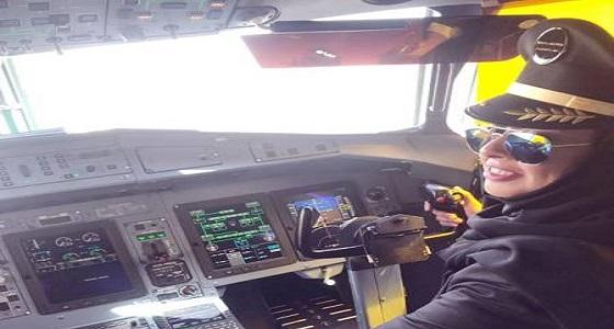بعد 6 سنوات.. مواطنة تقود أول رحلة رسمية لشركة طيران بالمملكة
