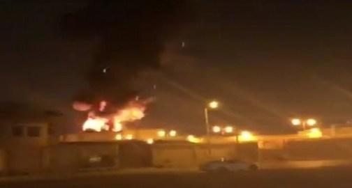 بالفيديو.. إندلاع حريق هائل بمحطة كهرباء حي النفل بالرياض