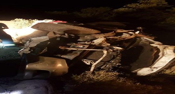 وفاة وإصابة 7 أشخاص في حادث إنقلاب بعسير