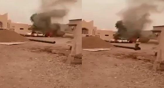 بعد سيدة الجموم.. مجهول يحرق سيارة مواطنة بجازان (فيديو)
