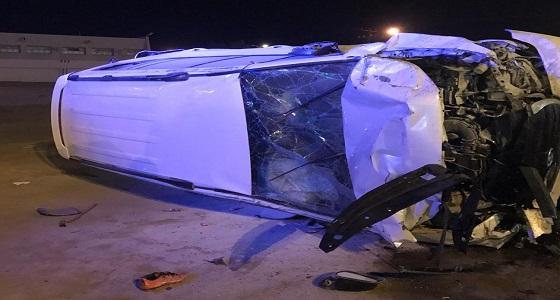 """وفاة وإصابة 3 في حادث تصادم بالباحة """" صور """""""