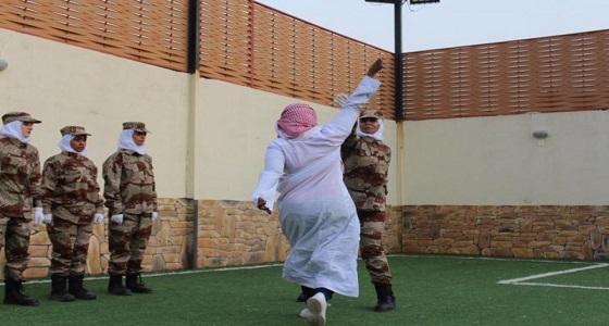 بالصور..عروض عسكرية نسائية الأولى من نوعها في المملكة