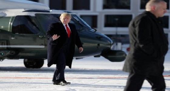 بالصور.. ترامب يصل إلى دافوس قبل ساعات من بدء جلسات محاكمة عزله