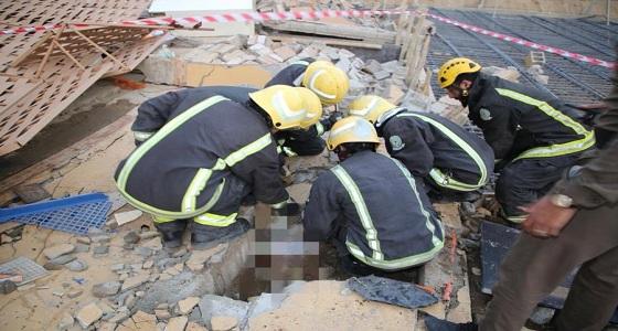 انهيار جدار يصرع عاملا في مكة