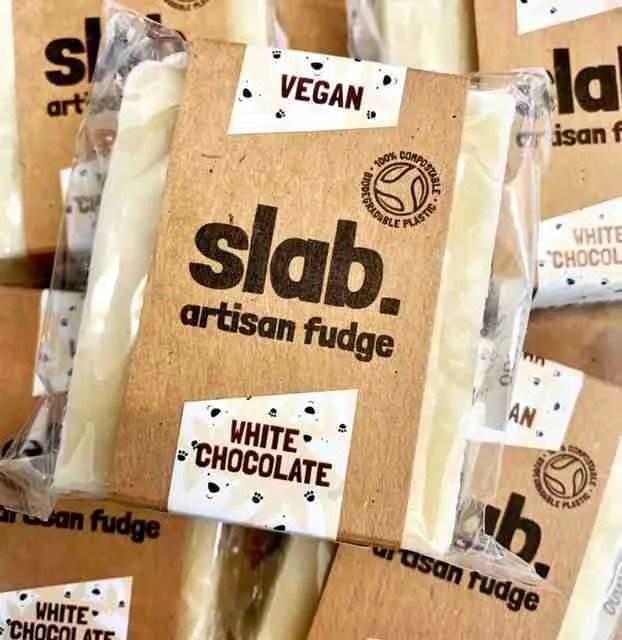 Slab Artisan Fudge - Vegan White Choc