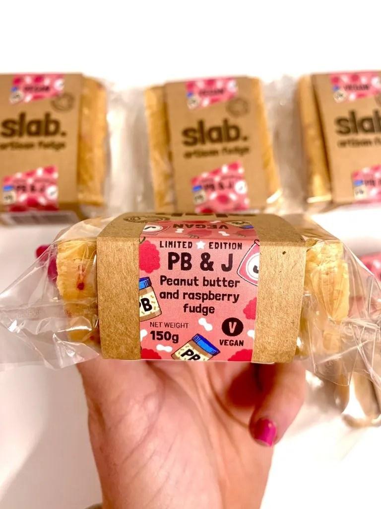Slab Fudge - Vegan Peanut Butter & Jelly