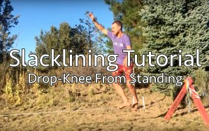 3 ways to enter drop-knee slacklining tutorial tips and technique