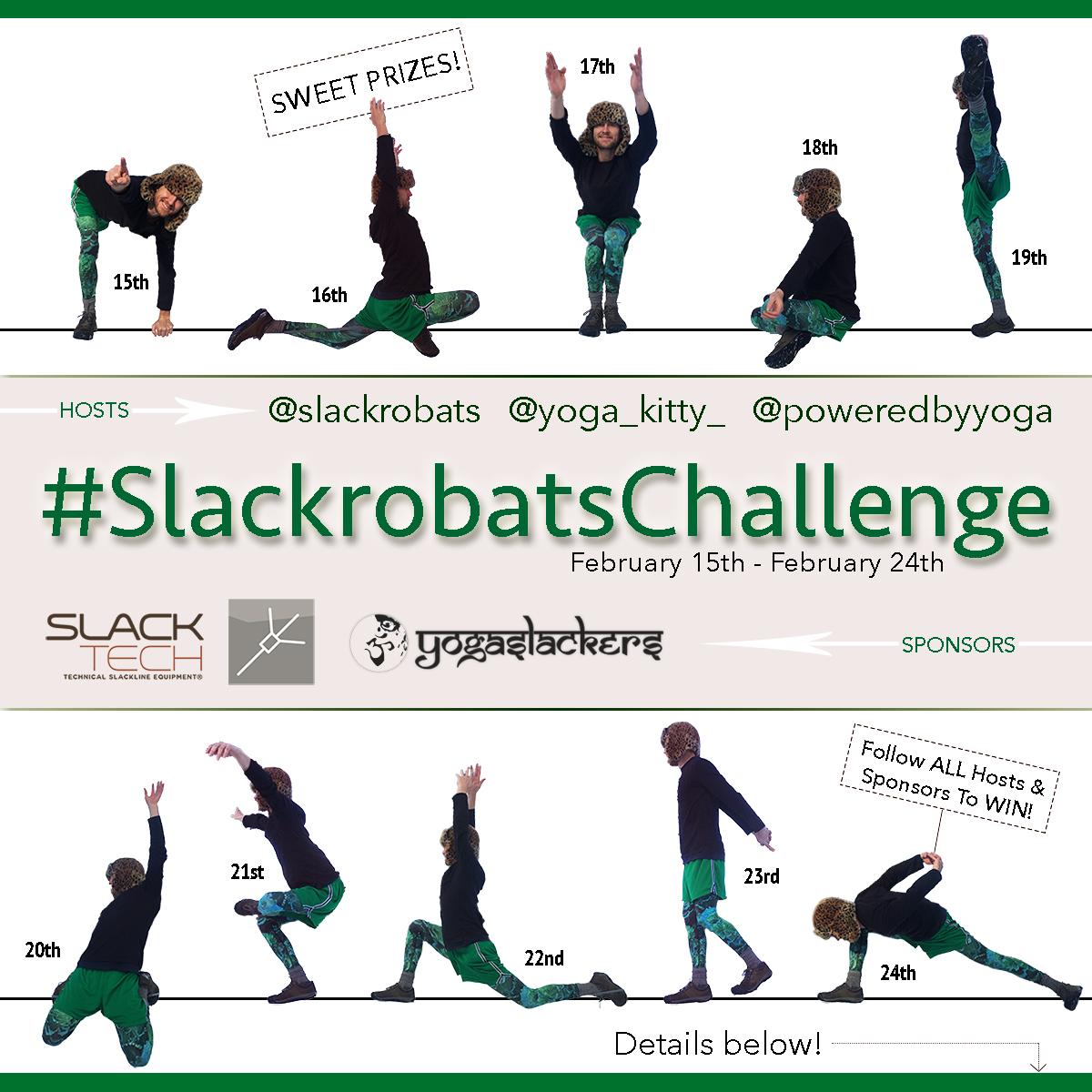 Kick Off 2017 With A Slackline #SlackrobatsChallenge!