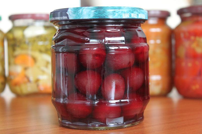 Zavárané ovocie, čerešne, nálev cukrový