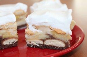 Pudingovo jablkový koláč