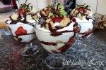 Tvarohovo - jahodový pohár