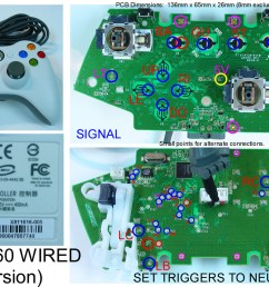 joystick controller pcb and wiring xbox 360 wired controller wiring diagram xbox one elite controller wiring diagram [ 1253 x 835 Pixel ]