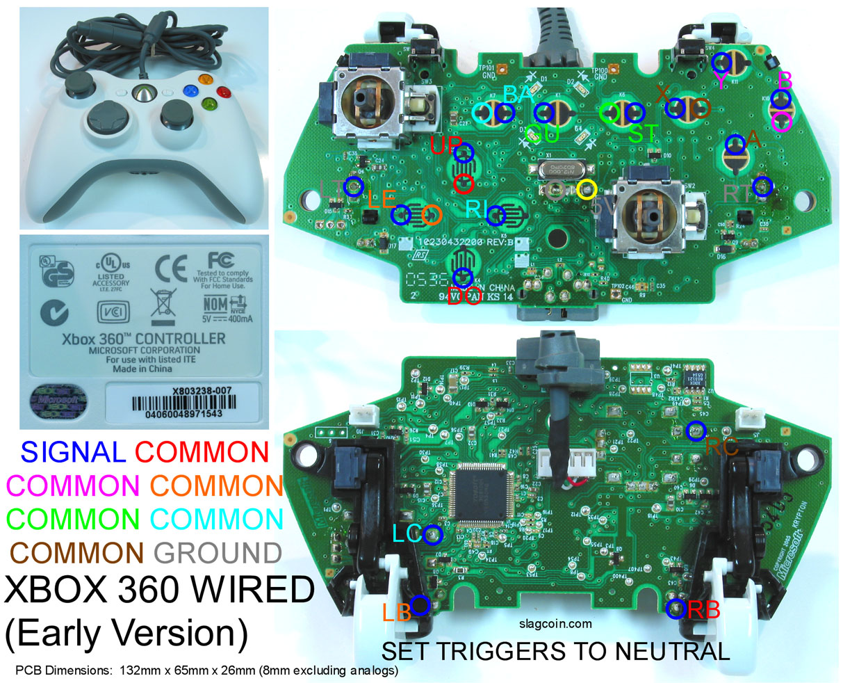 Playstation 2 Controller Cable Connector Pinout Diagram