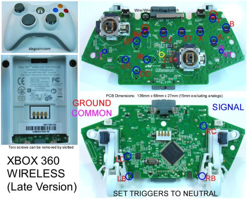 small resolution of gaming gadgets and mods xbox 360 and original xbox 360 controller wiring diagram xbox controller to usb wiring diagram