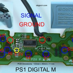 Ps2 Controller To Usb Wiring Diagram 2003 Subaru Forester Radio Joystick - Pcb And