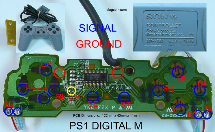 ps2 controller to usb wiring diagram nissan 3 engine joystick - pcb and