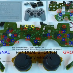 Playstation 2 To Usb Wiring Diagram Huskee Log Splitter Parts Joystick Controller - Pcb And