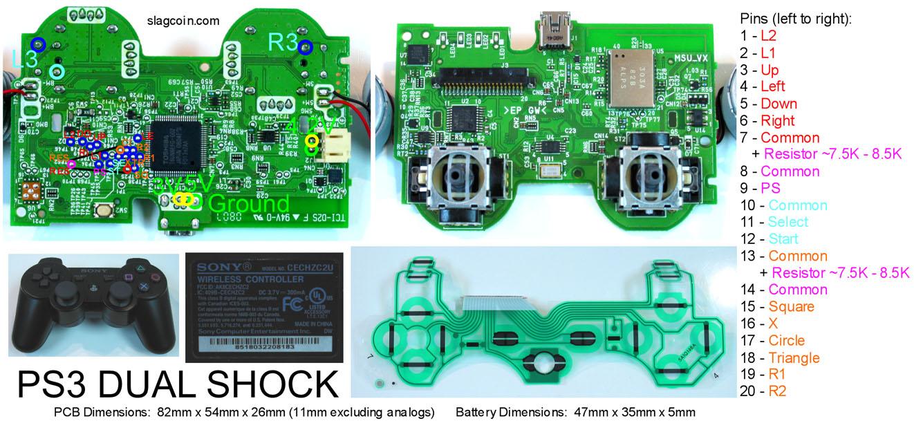 hight resolution of http www slagcoin com joystick pcb diagrams ps3 diagram3 jpg