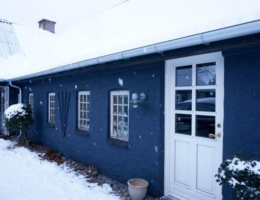 Tjørnevang i sneen