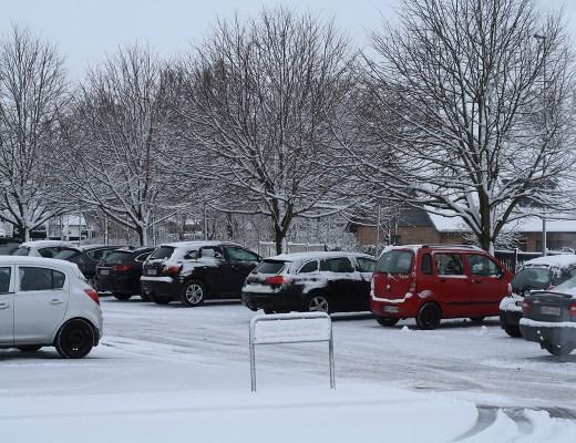 Så kom sneen til Aalborg